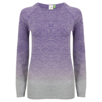 Adult Purple Long Sleeve Top Front